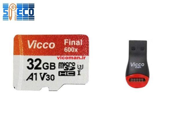 رم میکرو ۳۲ گیگ ویکومن Vicco Final U3 A1 90MB/s